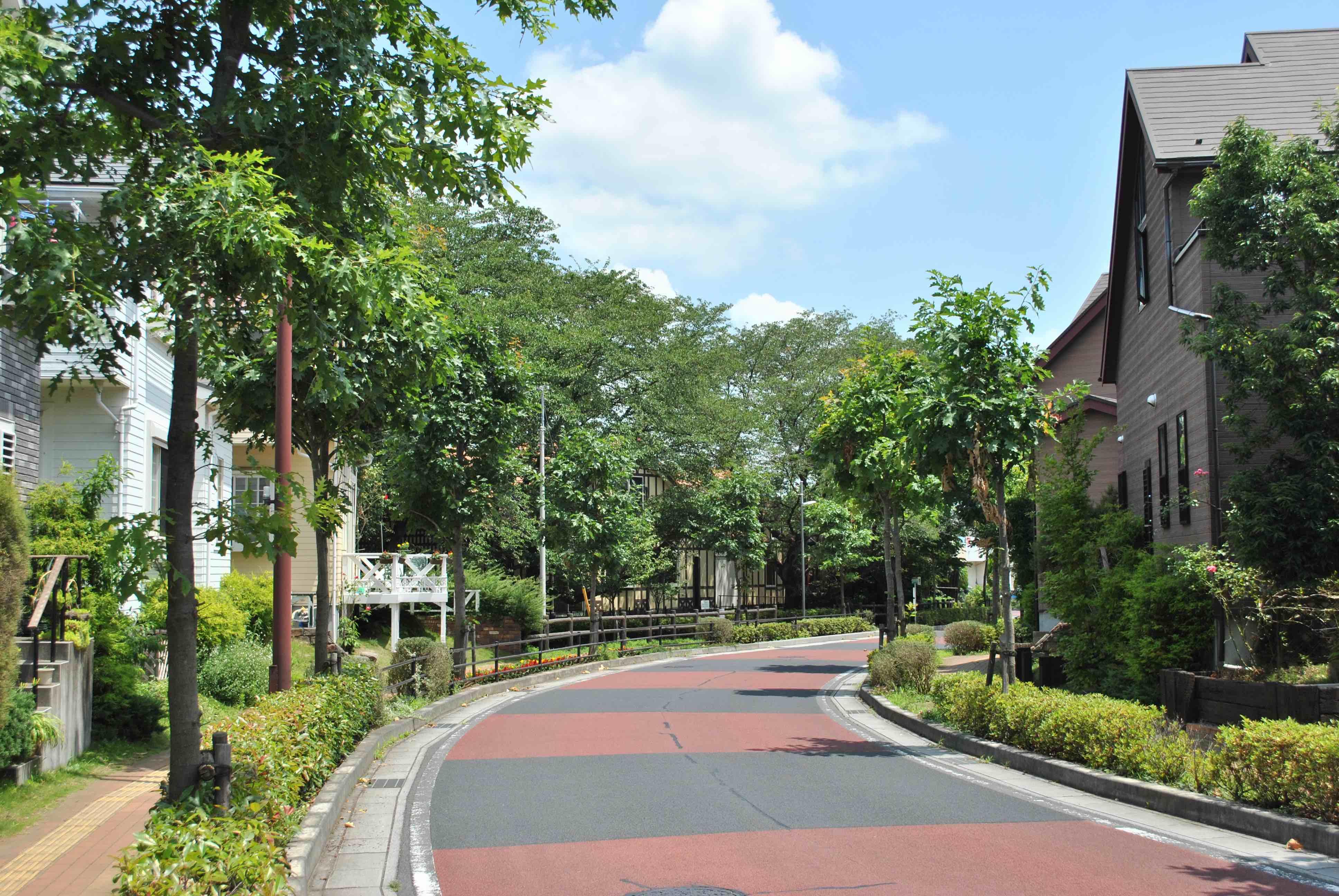 緑溢れる街並