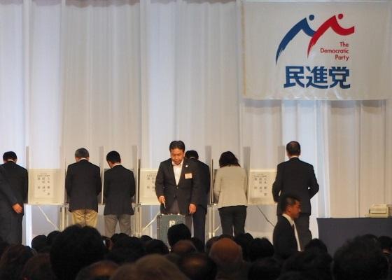(みんな大好き枝野幸男幹事長もしっかり投票)