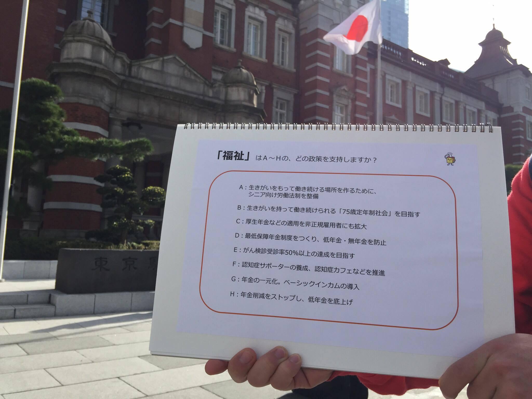 (東京駅にて。地方から出張に来ていた会社員の方々などにお答えいただきました)
